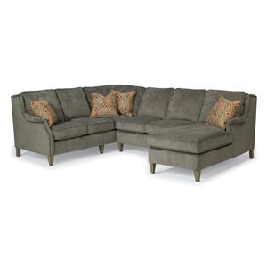 Flexsteel Zevon 3 Pc Sectional Sofa w/ RAF Chaise