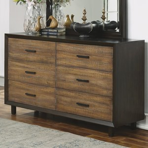 Contemporary Dresser with Felt-Lined Drawers