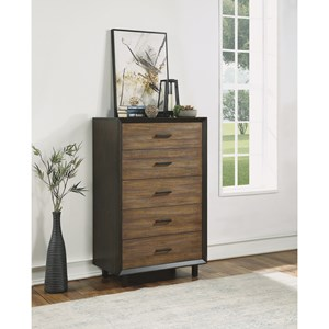 Modern Rustic Chest with Felt-Lined Drawer