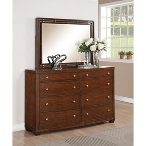 Flexsteel Wynwood Collection Bali Dresser & Mirror Set