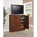 Flexsteel Wynwood Collection Bali Contemporary Media Chest with Drop-Front Media Storage