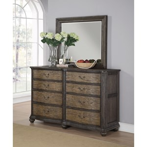 Flexsteel Wynwood Collection Bordeaux Dresser and Mirror