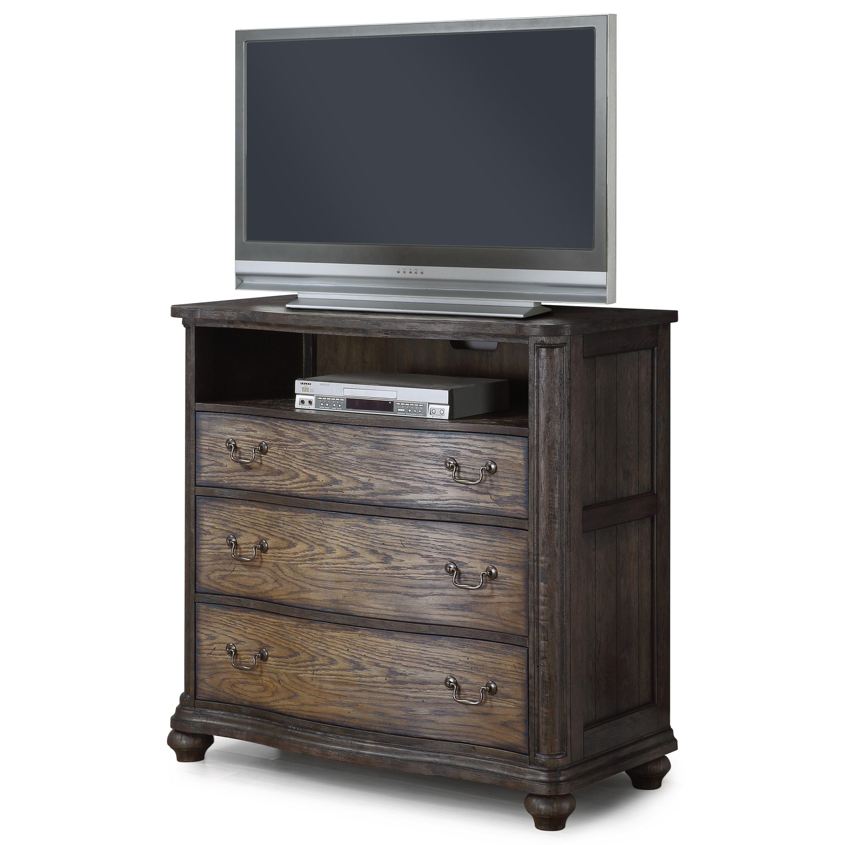 Flexsteel Wynwood Collection Bordeaux W1024 866 Traditional Media Chest With Charging Station