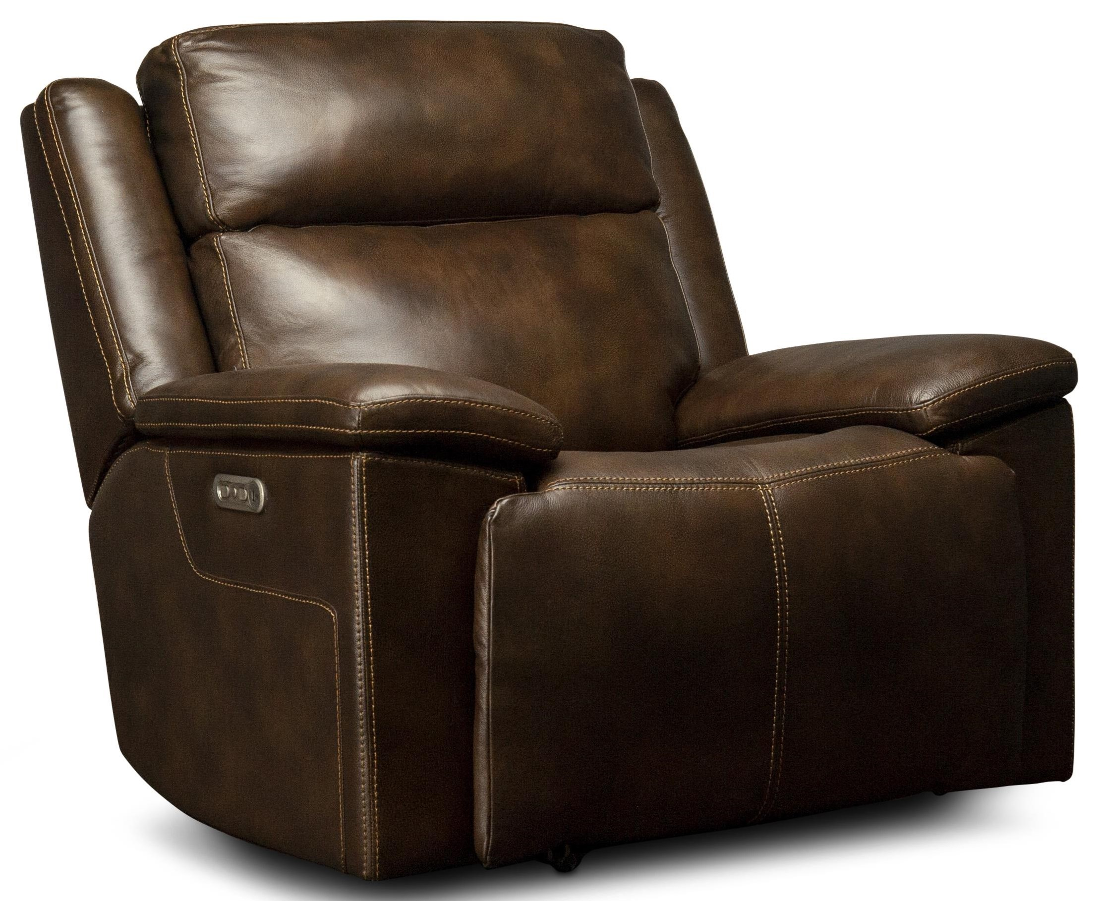 Calista Calista Power Leather Match Glider Recliner by Flexsteel Wynwood Collection at Morris Home