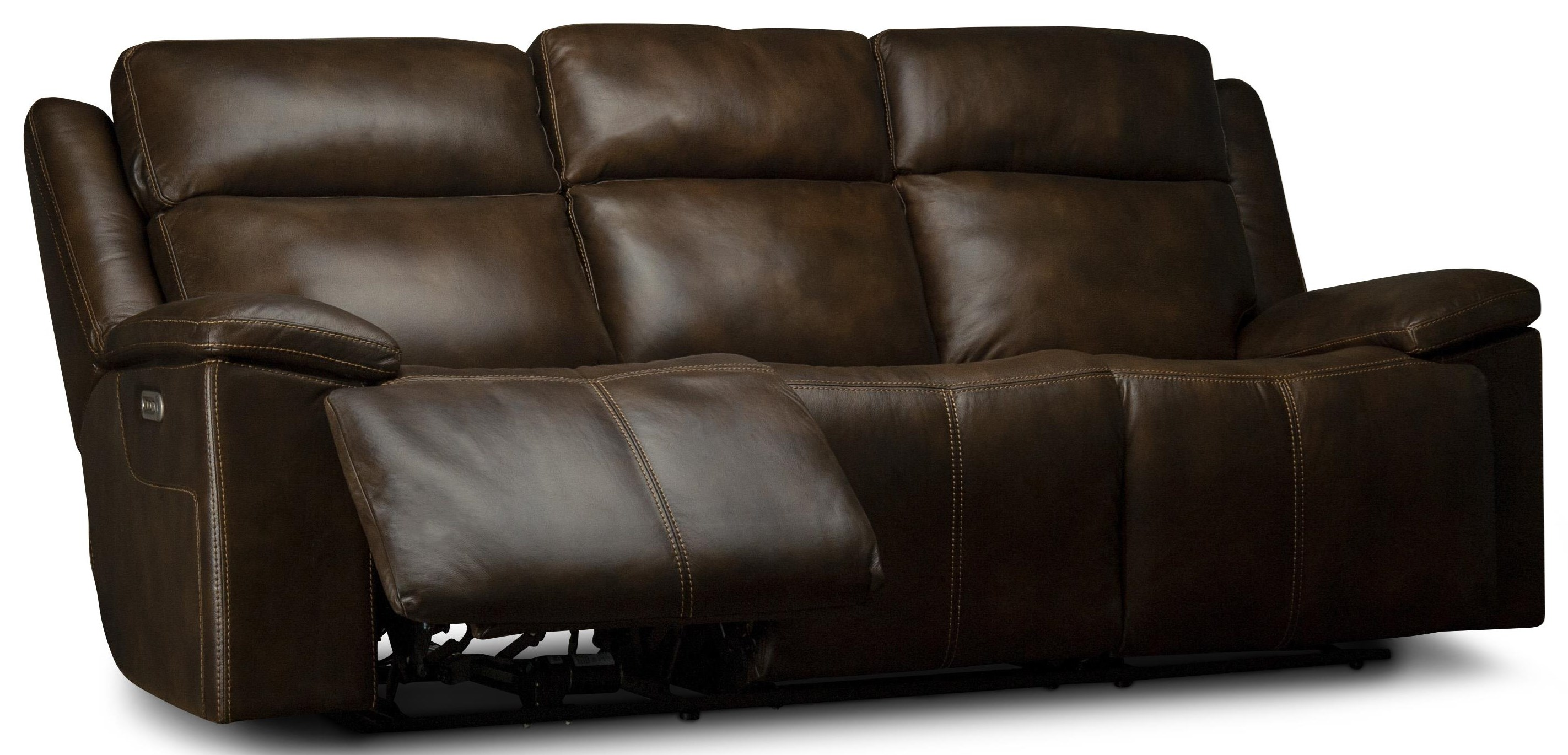 Calista Power Leather Match Sofa