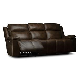 Calista Power Leather Match Sofa