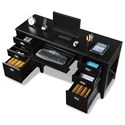 Flexsteel Wynwood Collection Camden Contemporary Executive Desk with Built-In Power