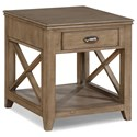 Flexsteel Wynwood Collection Camden End Table  - Item Number: W1336-01