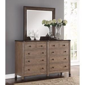 Flexsteel Wynwood Collection Carmen Dresser and Mirror