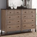 Flexsteel Wynwood Collection Carmen Dresser - Item Number: W1046-860