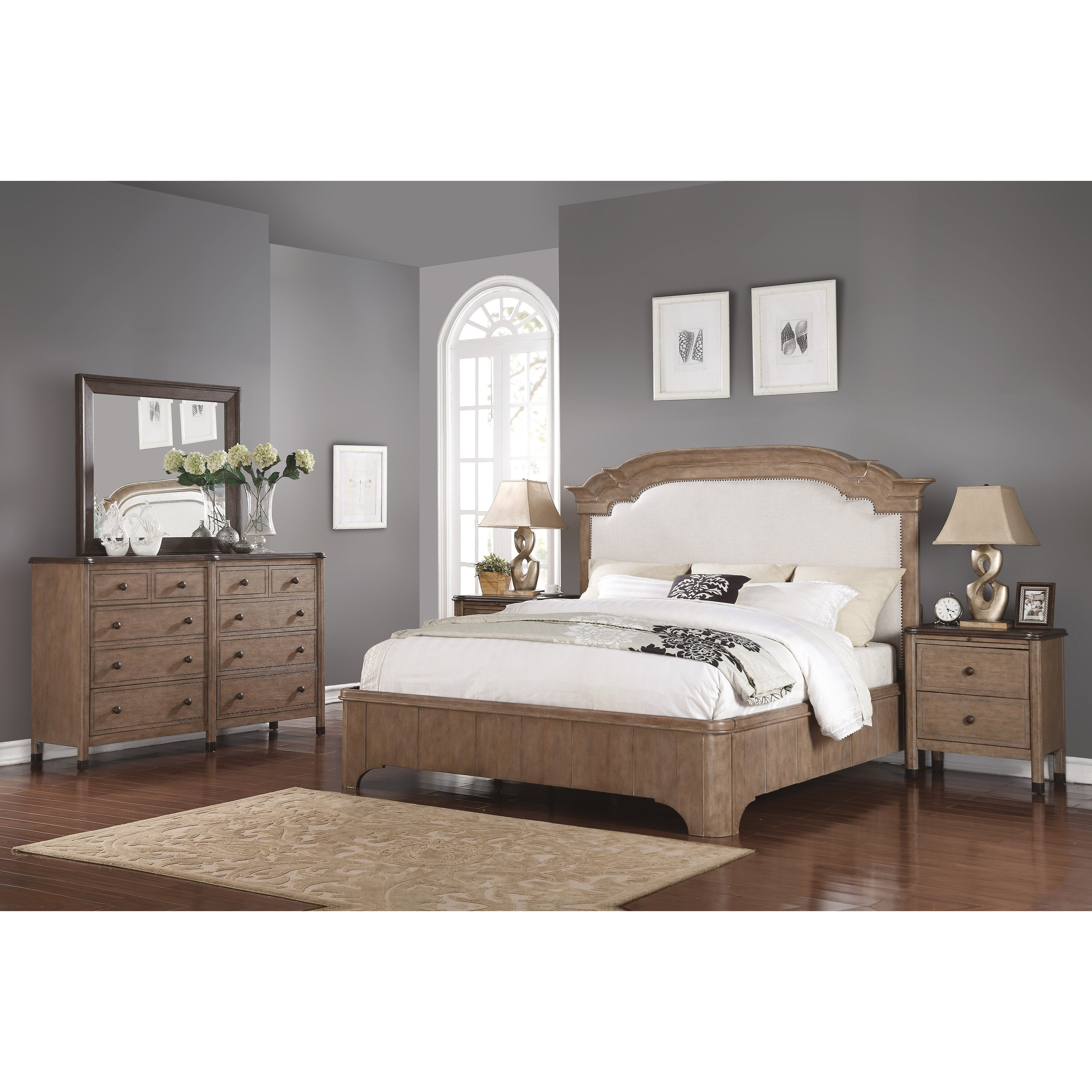 Bedrooms Transitional Home: Flexsteel Wynwood Collection Carmen W1046-863 Transitional