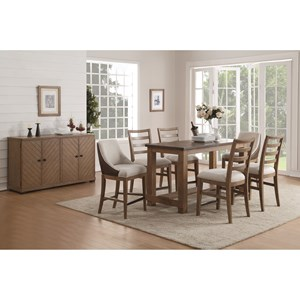 Formal Counter Height Dining Room Group