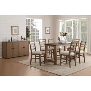 Flexsteel Wynwood Collection Carmen Counter Height Dining Room Group
