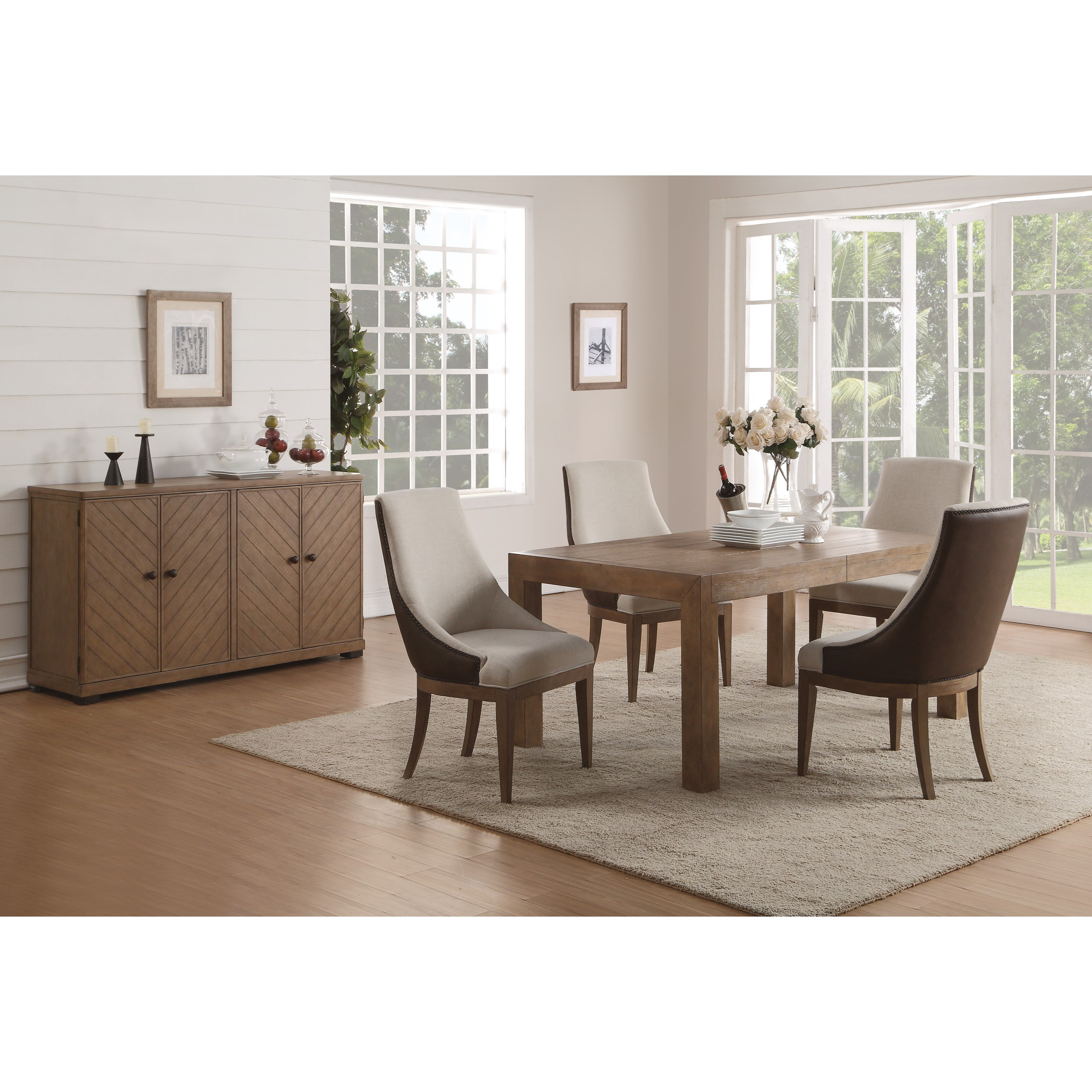 Flexsteel Wynwood Collection Carmen Formal Dining Room Group - Item Number: W1146 Dining Room Group 13