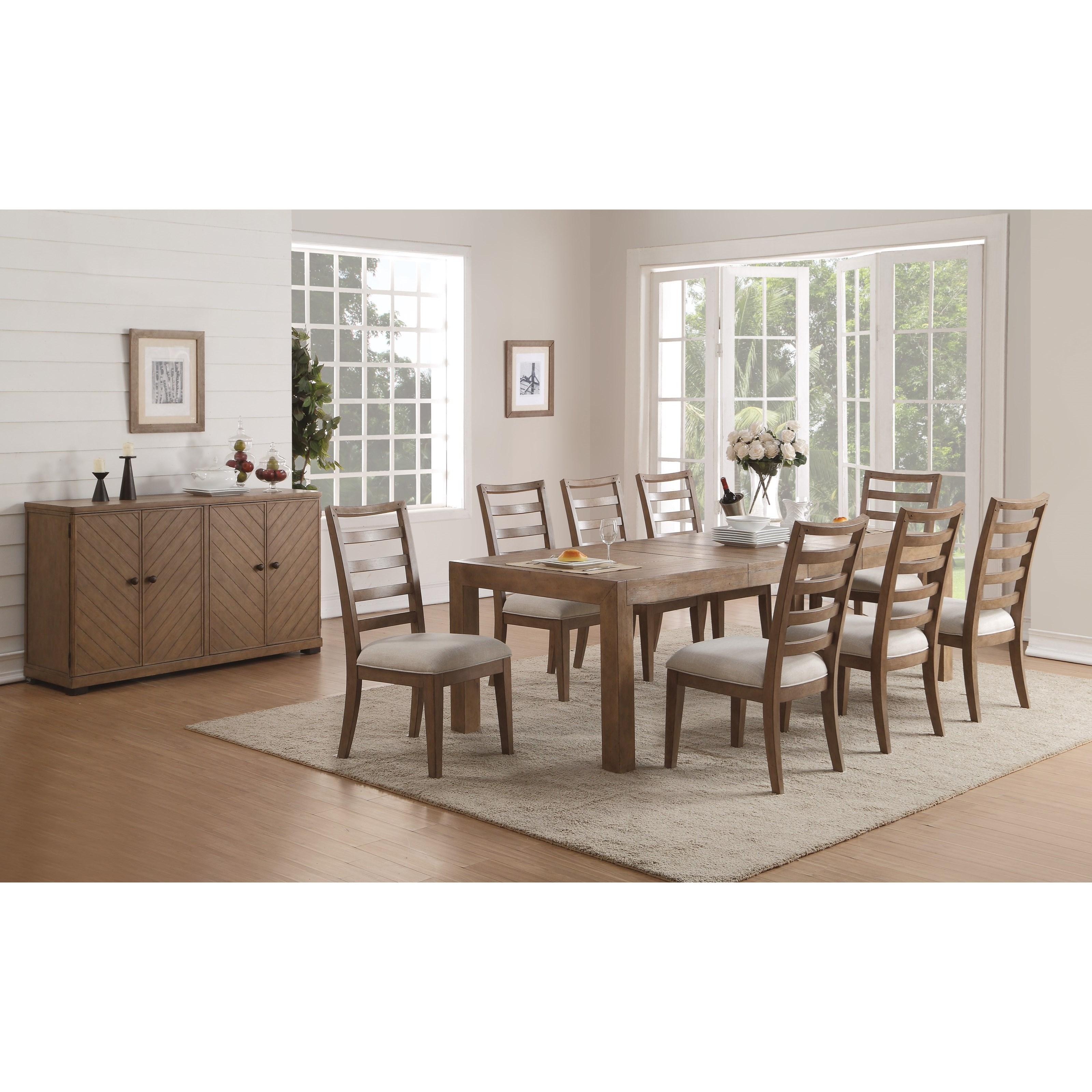 Flexsteel Wynwood Collection Carmen Formal Dining Room Group - Item Number: W1146 Dining Room Group 4