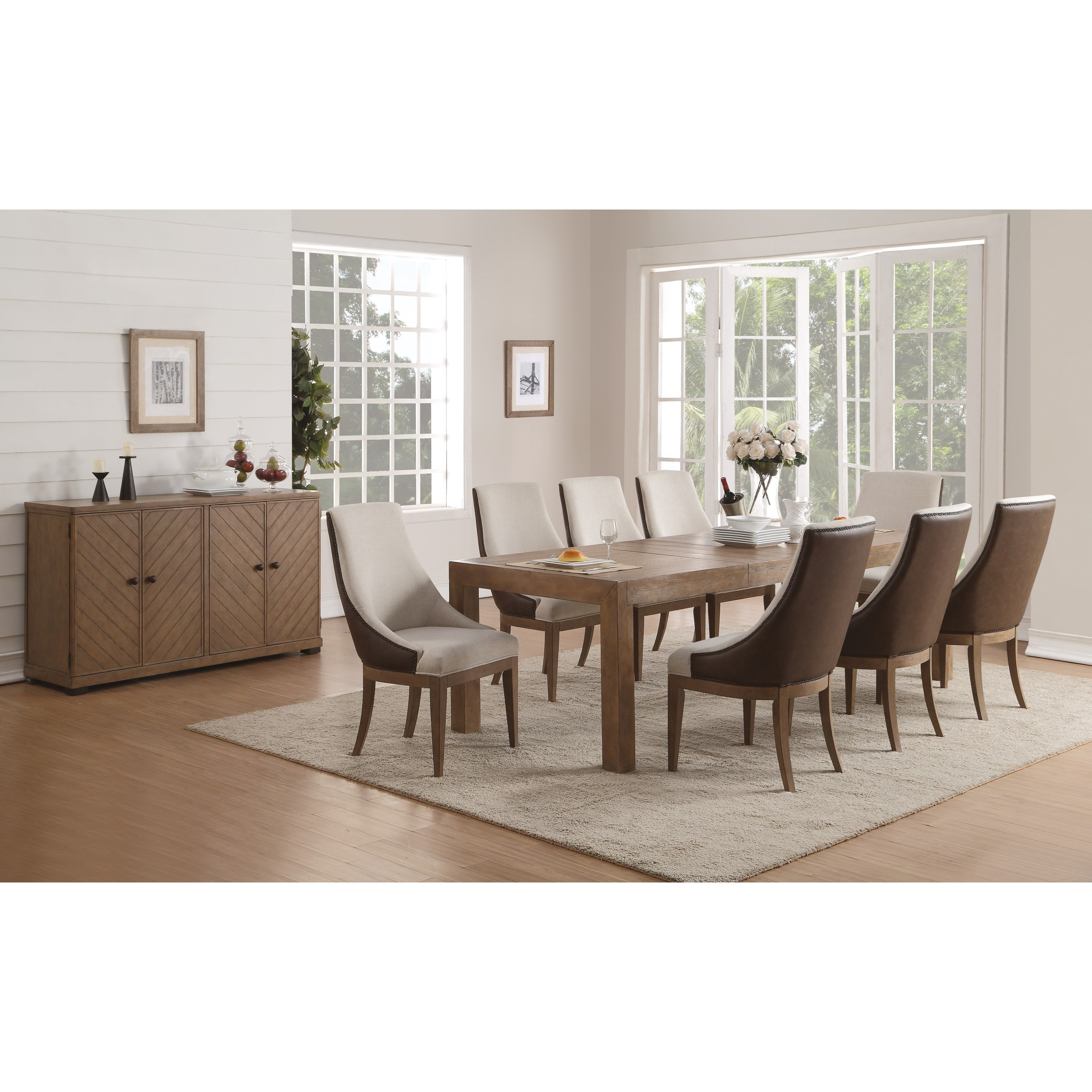 Flexsteel Wynwood Collection Carmen Formal Dining Room Group - Item Number: W1146 Dining Room Group 6
