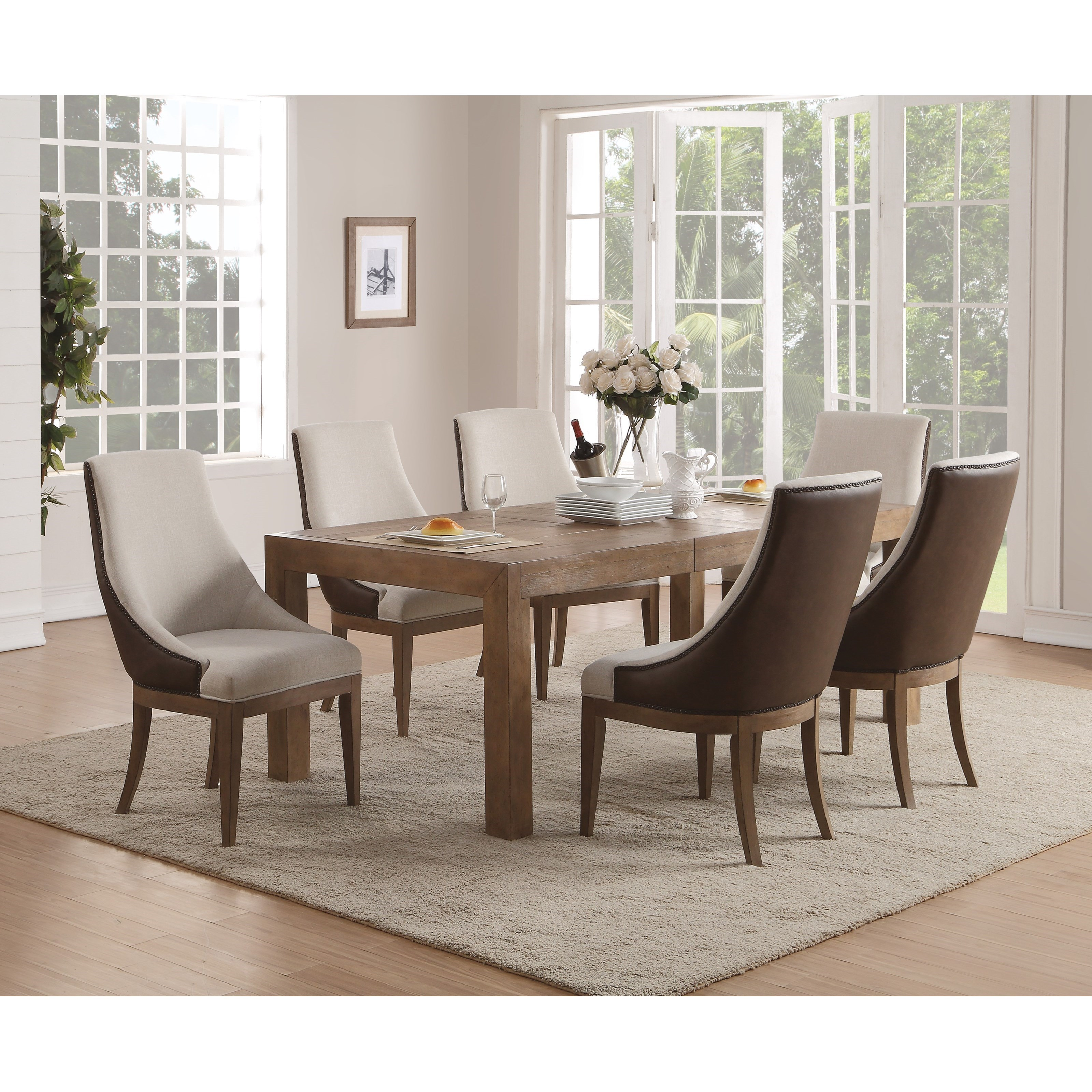 Flexsteel Wynwood Collection Carmen Table and Chair Set - Item Number: W1146-831+6x840