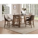 Flexsteel Wynwood Collection Carmen Counter Height Table and Chair Set - Item Number: W1146-835+4x844