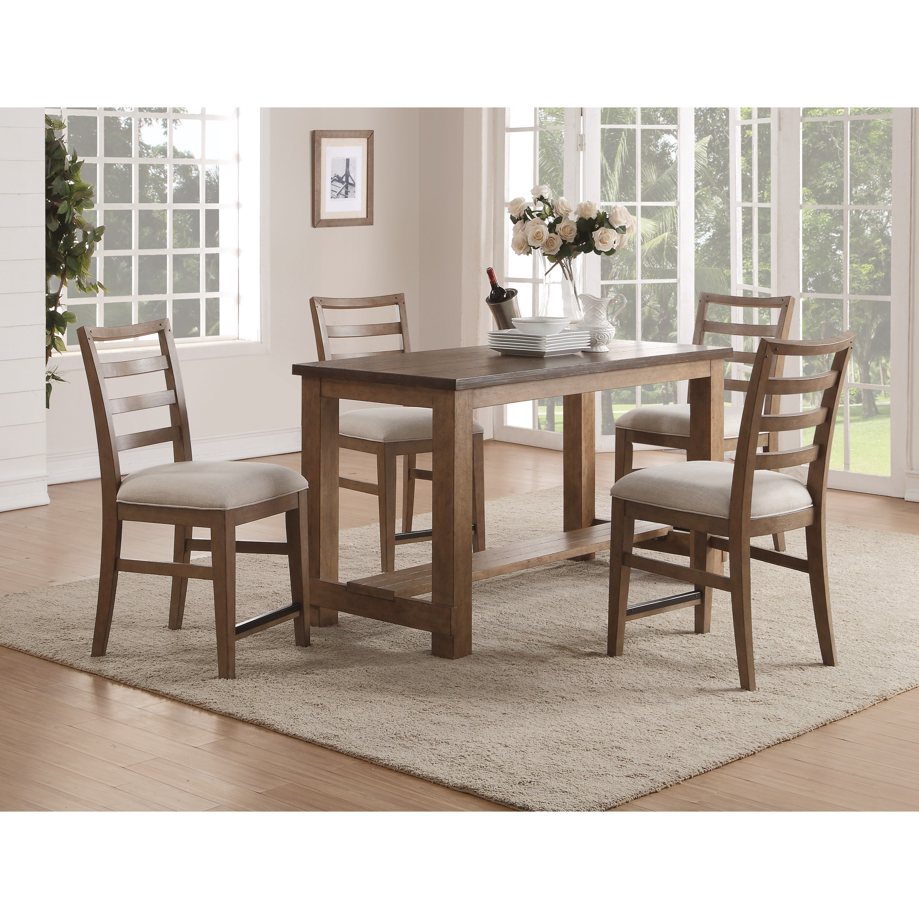 Counter Height Table and Chair Set