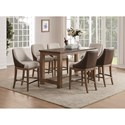 Wynwood, A Flexsteel Company Carmen Counter Height Table and Chair Set - Item Number: W1146-835+6x844