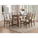 Flexsteel Wynwood Collection Carmen Counter Height Table and Chair Set - Item Number: W1146-835+6x846