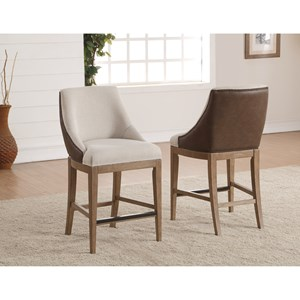Flexsteel Wynwood Collection Carmen Upholstered Counter Height Chair