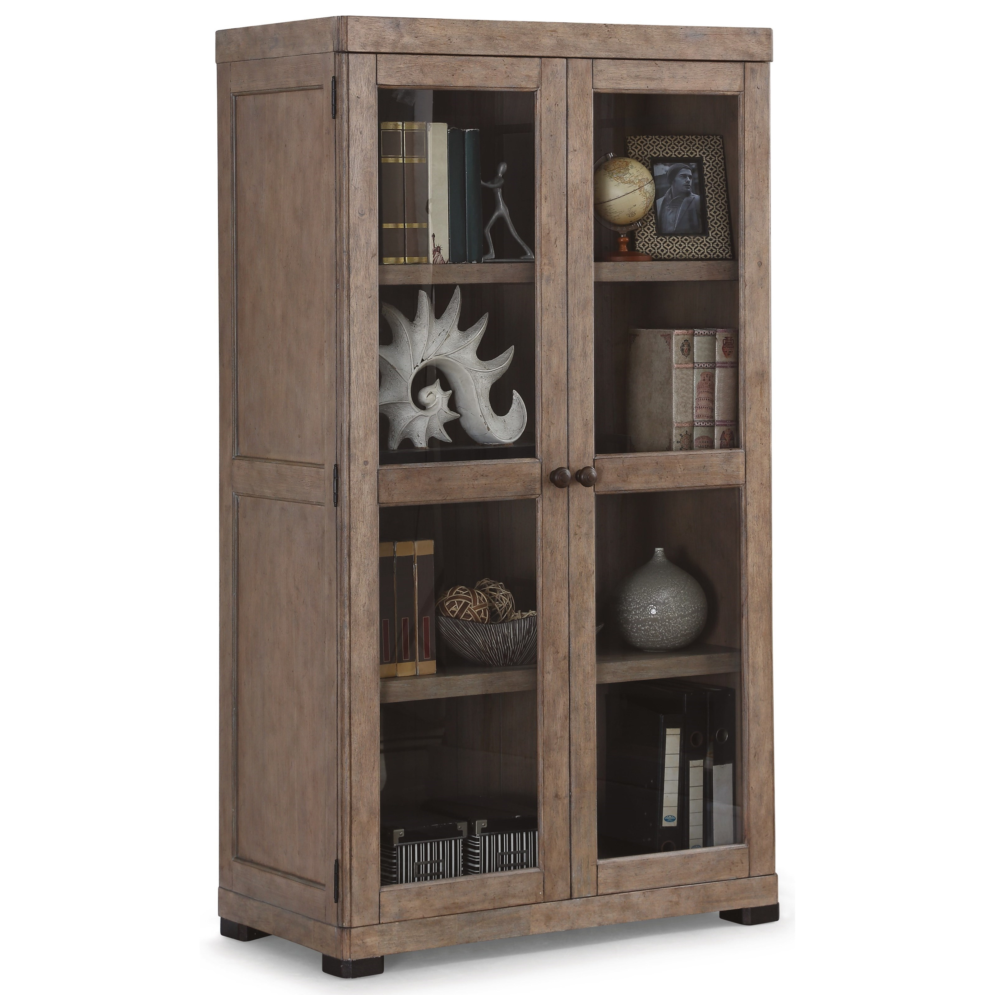 Flexsteel Wynwood Collection Carmen Closed Bookcase - Item Number: W1346-702