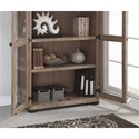 Flexsteel Wynwood Collection Carmen Contemporary Closed Bookcase with Glass Doors