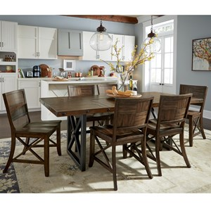 Flexsteel Wynwood Collection Carpenter 7 Piece Dining Set