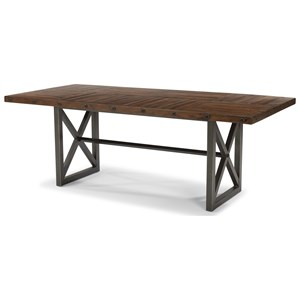 Adjustable Height Rectangular Dining Table