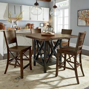 Flexsteel Wynwood Collection Carpenter 5 Piece Counter Height Dining Set