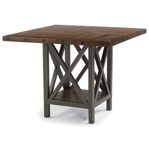Flexsteel Wynwood Collection Carpenter Adjustable Height Square Table