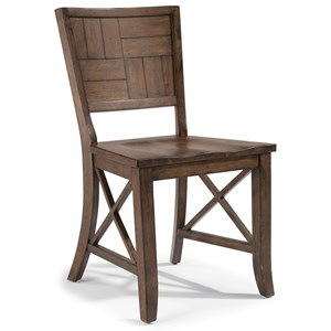 Carpenter Side Chair with X Detail by Flexsteel Wynwood Collection