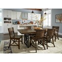 Flexsteel Wynwood Collection Carpenter Side Chair with X Detail