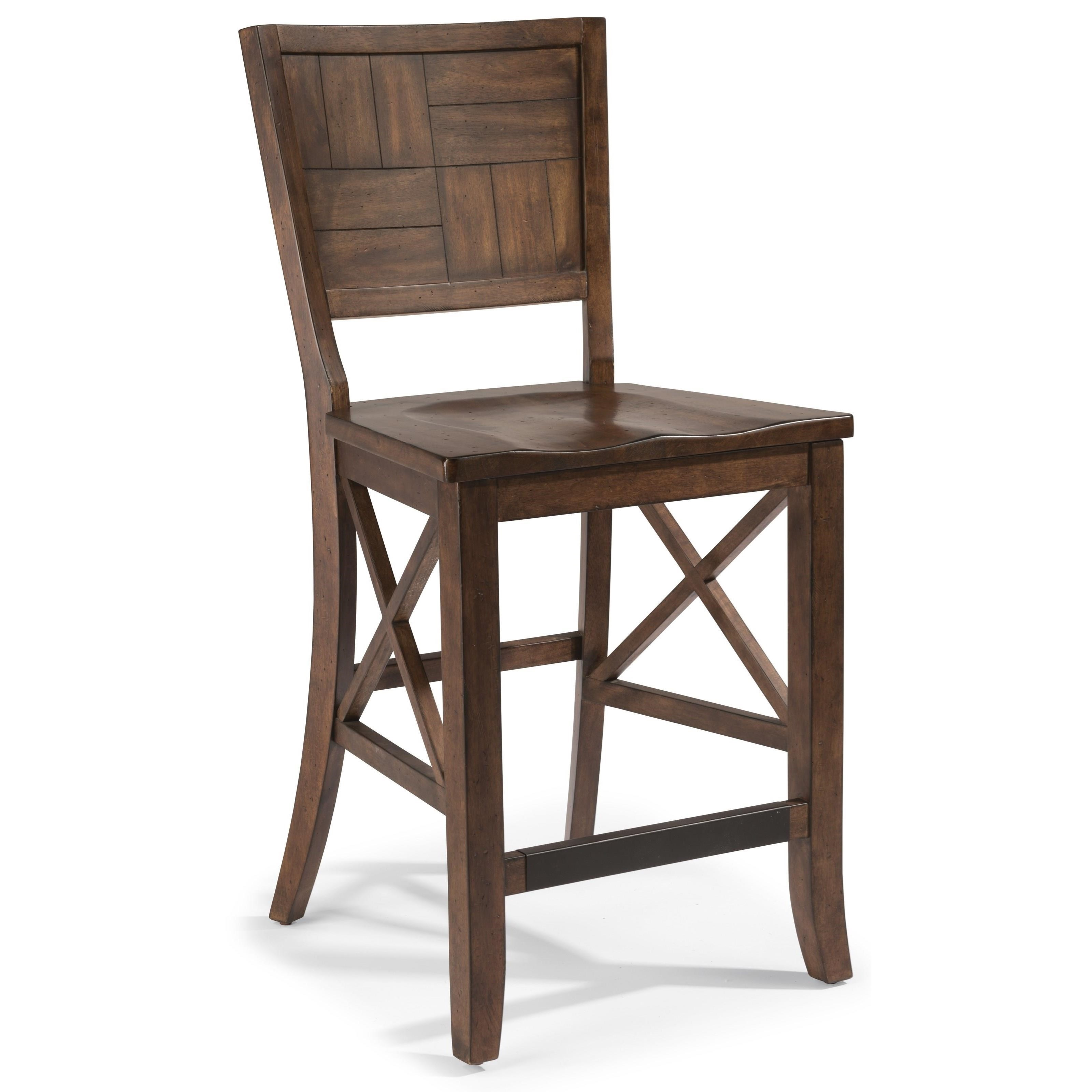 Flexsteel Wynwood Collection Carpenter Counter Chair - Item Number: W6722-846