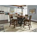 Flexsteel Wynwood Collection Carpenter Counter Chair with X Detail