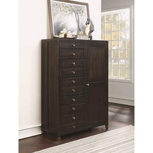 Transitional Gentleman's Chest with Felt and Cedar-Lined Drawers