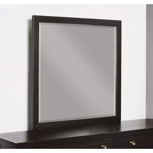 Transitional Dresser Mirror with Beveled Glass