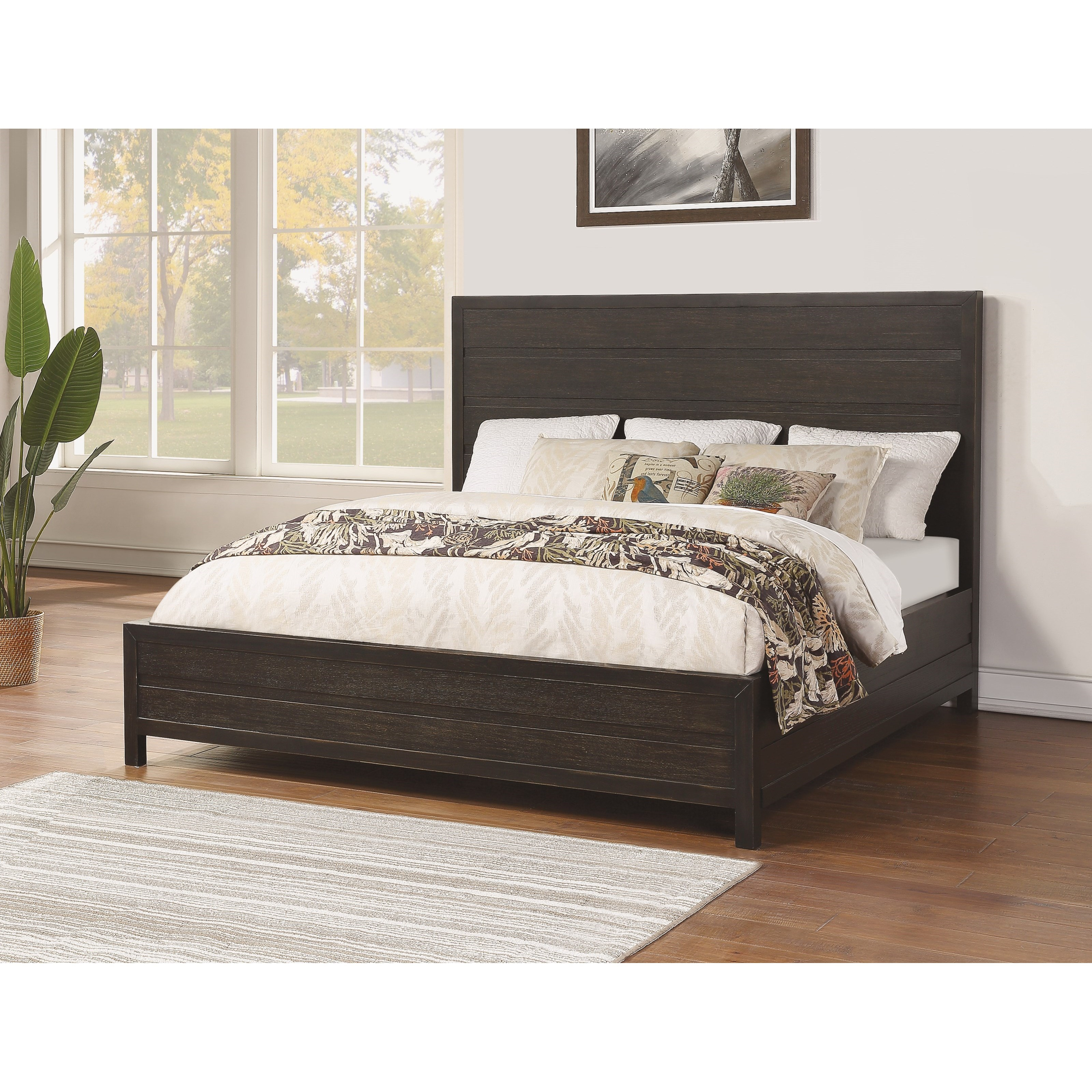 Cologne King Low Profile Bed by Flexsteel Wynwood Collection at Northeast Factory Direct