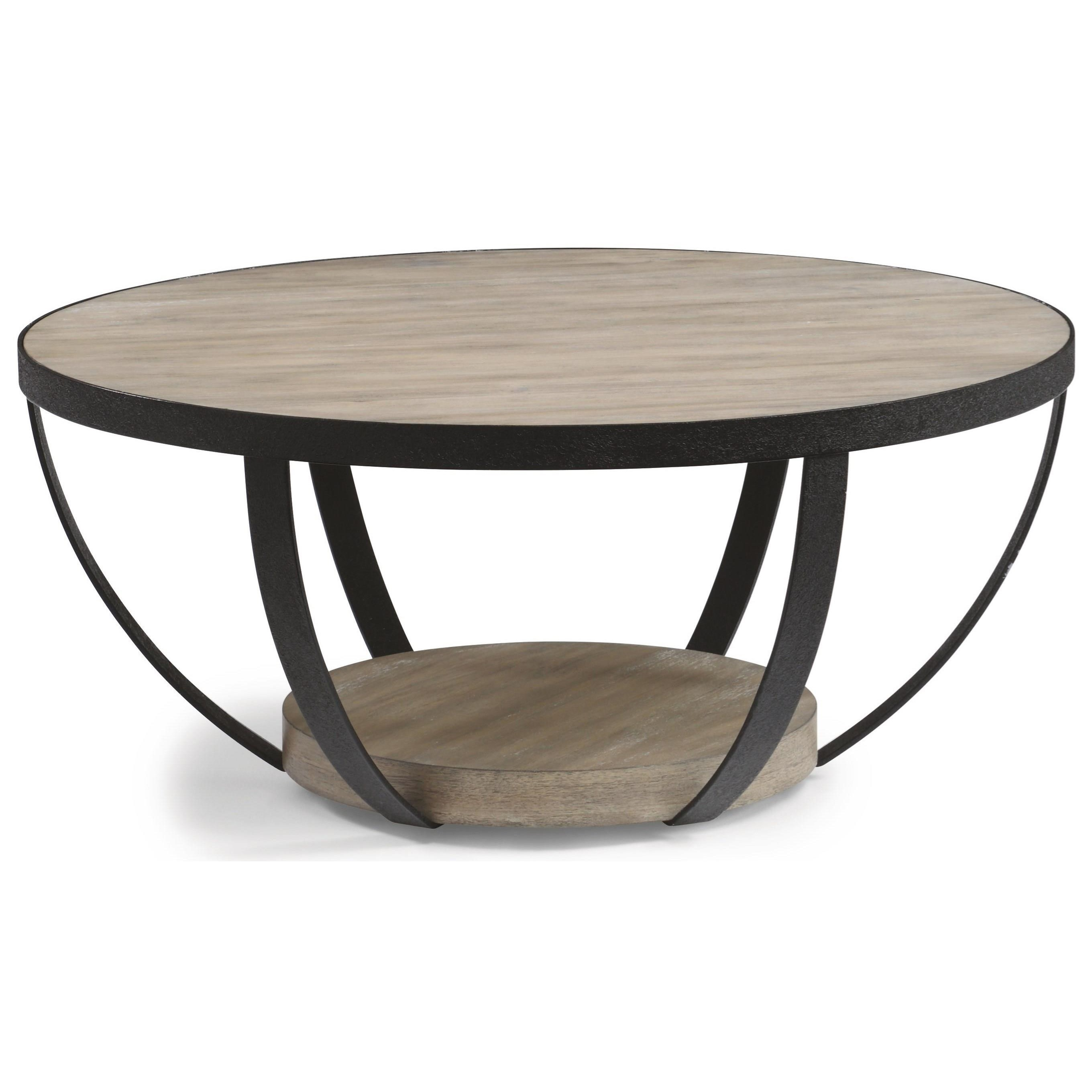 Compass Round Cocktail Table by Flexsteel Wynwood Collection at Northeast Factory Direct