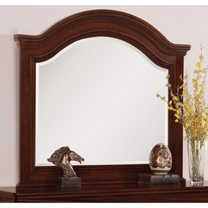 Flexsteel Wynwood Collection Downton Traditional Arched Mirror