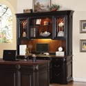 Flexsteel Wynwood Collection Eastchester Traditional Desk and Hutch - Item Number: W1206-736+744