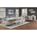 Flexsteel Wynwood Collection Harmony Dining Room Group - Item Number: W1070 Dining Room Group 1