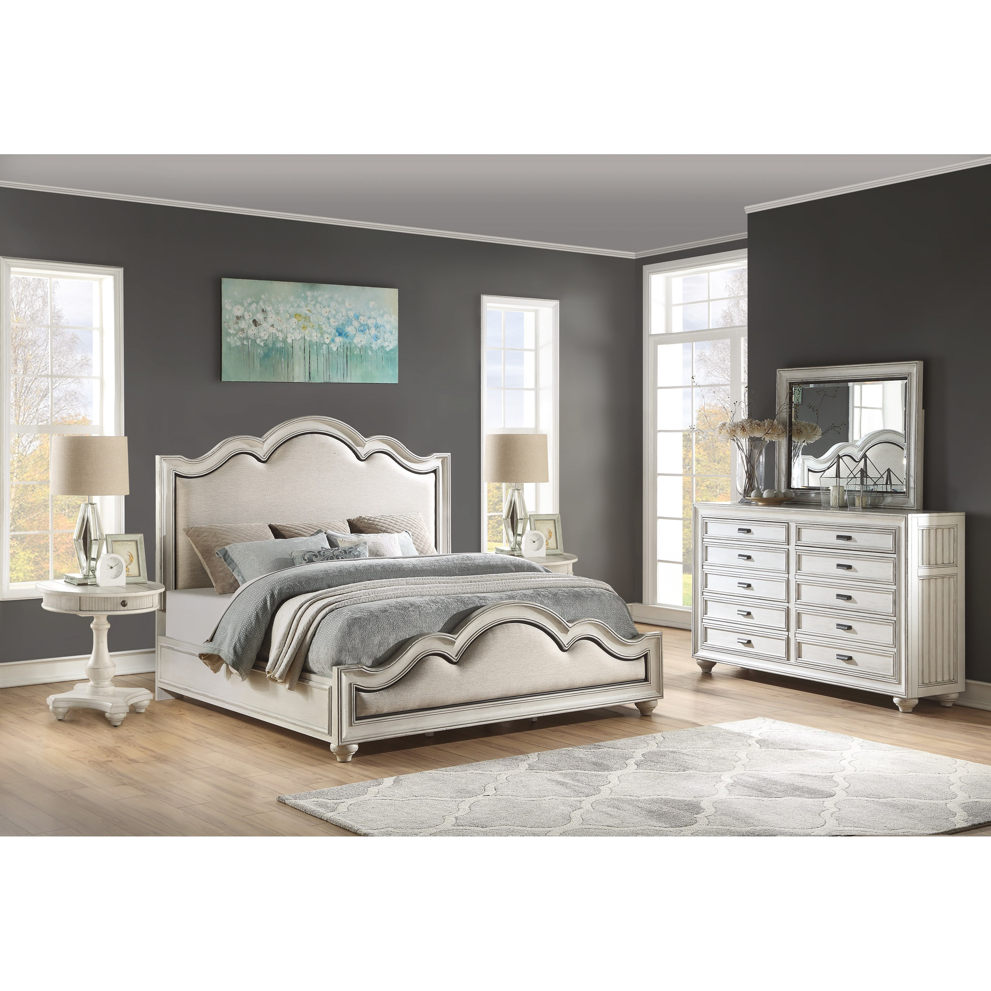 Harmony King Bedroom Group by Flexsteel Wynwood Collection at Northeast Factory Direct