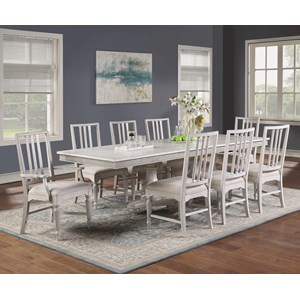 7-Piece Cottage Dining Table Set with Arm Chairs