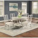 Flexsteel Wynwood Collection Harmony 5-Piece Dining Table Set - Item Number: W1070-834+4x840