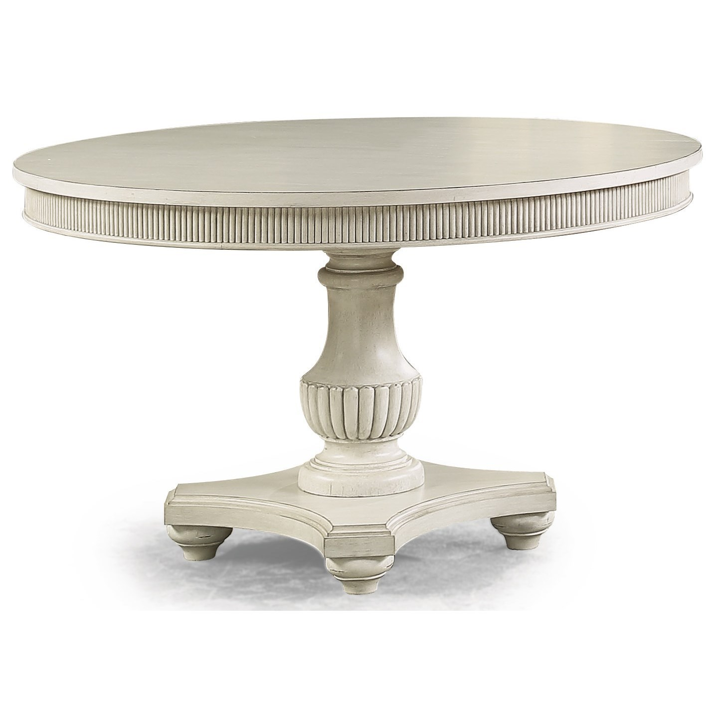 Harmony Round Pedestal Dining Table by Flexsteel Wynwood Collection at Northeast Factory Direct