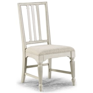Cottage Upholstered Dining Side Chair