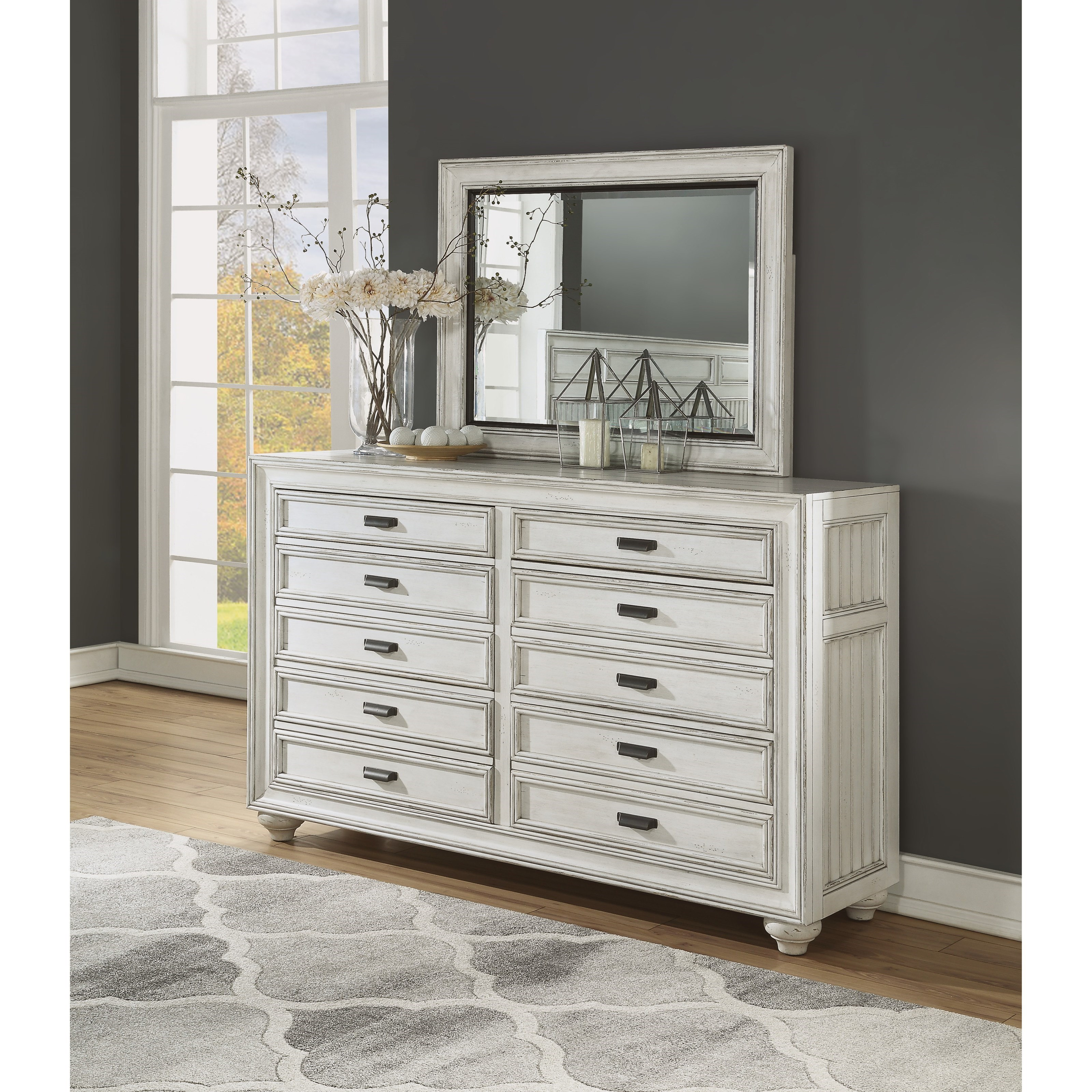 Harmony Dresser and Mirror Set by Flexsteel Wynwood Collection at Northeast Factory Direct