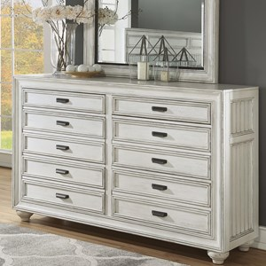 Cottage Dresser with Felt-Lined Drawers